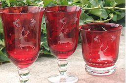 Les Verreries Du Chateau De Rivals -  - Glasses Set