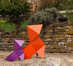 NATHALIE BE - origami fanette - Garden Lamp