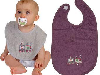SIRETEX - SENSEI - bavoir bébé scratch brodé en voiture - Bib