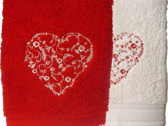 SIRETEX - SENSEI - serviette invitè 30x50cm brodèe megeve 550gr/mÿ² - Guest Towel