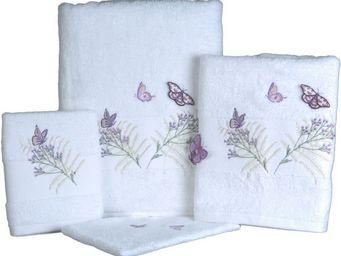 SIRETEX - SENSEI - serviette invité 30x50cm brodée butterfly - Guest Towel