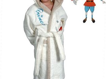 SIRETEX - SENSEI - peignoir enfant bicolore capuche prince eliot - Children's Dressing Gown