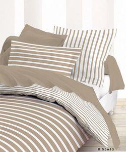 SIRETEX - SENSEI - housse de couette rayé ficelle 100% coton 57fils/c - Duvet Cover