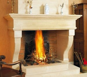 Jean Magnan Cheminees - louis xiii - Open Fireplace