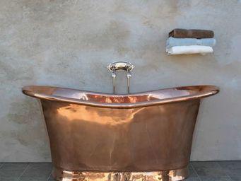 THE BATH WORKS - copper bateau - Freestanding Bathtub