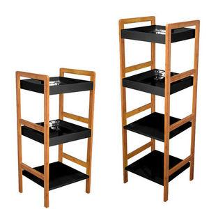 WHITE LABEL - etagère 3 niveaux et étagère 4 niveaux en bambou e - Bathroom Shelf