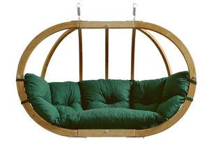 Amazonas - canapé suspendu globo royal vert - coussin impermé - Swinging Chair