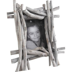 Aubry-Gaspard - cadre photo en bois flotté et verre 32x10x40cm - Photo Frame
