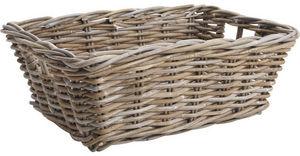 Aubry-Gaspard - manne de rangement poelet gris - Storage Basket