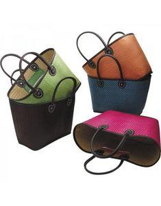 Aubry-Gaspard - couffin en palmier - Shopping Bag