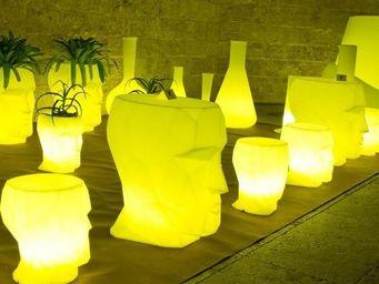 VONDOM - tabouret design vondom adan, led rgb - Garden Bar Stool