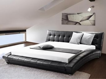 BELIANI - lit à eau lille noir 180x200 cm - Waterbed