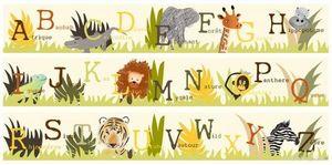 BABY SPHERE - frise abécédaire safari de la jungle - Border