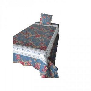 Demeure et Jardin - boutis de lit 1 personne bleu - Matelasse Bedspread