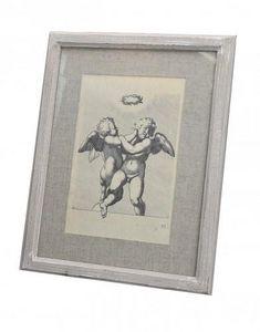 Demeure et Jardin - gravure angelot - Engraving
