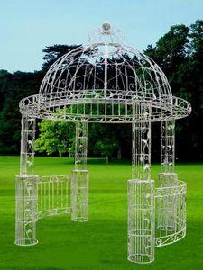 Demeure et Jardin - gloriette ronde fer forgé patiné - Pavilion