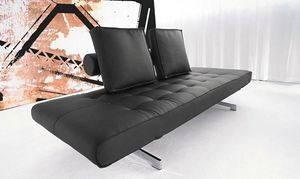 INNOVATION - canapé lit design ghia noir convertible 90*210cm - Futon