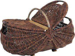 Aubry-Gaspard - panier en osier brut avec couvercles - Basket