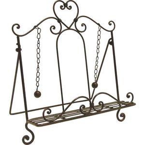 Aubry-Gaspard - lutrin cour en métal laqué rouille - Book Stand