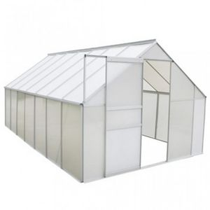 WHITE LABEL - serre de jardin polycarbonate 10,75 m² - Greenhouse