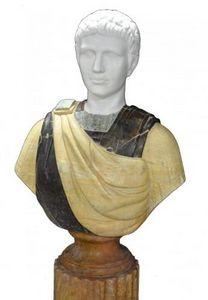Demeure et Jardin - buste jeune romain - Bust Sculpture