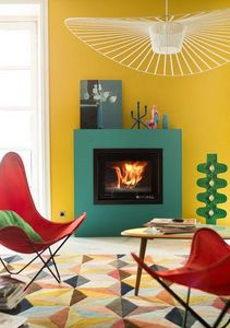 Lorflam - xp78-in finition black - Fireplace Insert