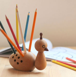 EO - peacock - Pencil Holder