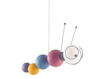 Philips - ruby - suspension chenille multicolore l47cm | lus - Children's Hanging Decoration