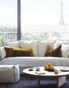 Maison De Vacances - coton stone washed - Rectangular Cushion