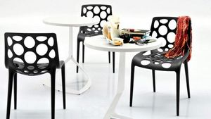 Calligaris - petite table ronde evolve 60x60 blanche de callig - Round Diner Table