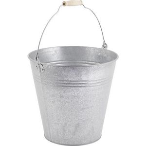 AUBRY GASPARD - seau en zinc givré 12l - Bucket