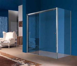 Samo - angle avec paroi fixe - Sliding Shower Door