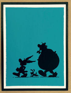 COMIC ART - asterix, idã?â©fix, obelix - Silk Screen Print