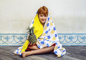 BALITOWEL - pineapple logo - Beach Towel