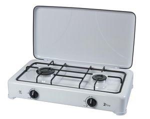 RIBILAND by Ribimex - réchaud à gaz émaillé 2 feux 2 feux - Kitchen Hot Plate