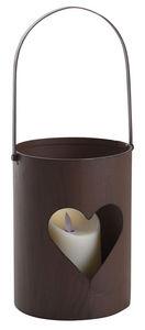 Aubry-Gaspard - photophore en métal rouillé (lot de 3) - Outdoor Candle Holder