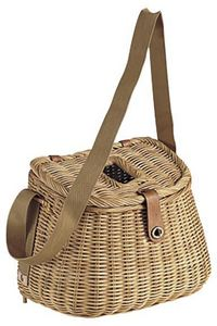 Aubry-Gaspard - panier de pêche en rotin grand modèle - Fisherman's Basket
