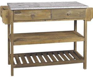 Aubry-Gaspard - console bois et zinc - Drawer Console