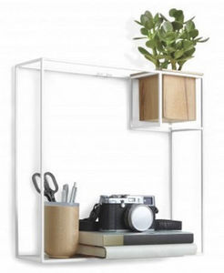 Umbra - etagère design en métal blanc cubist grand modèle - Wall Shelf