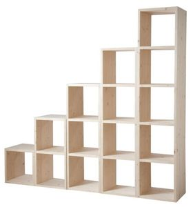 Aubry-Gaspard - etagère modulable 2 cases en épicéa 2 cases - Shelf