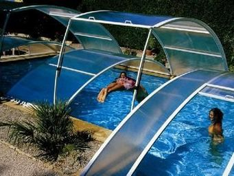 Abrideal - primo version roman - Low Removable Pool Enclosure