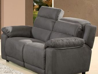 WHITE LABEL - canapé fixe 2 places microfibre - nancy - l 152 x - 2 Seater Sofa