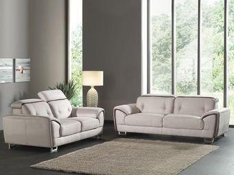 WHITE LABEL - canapé 3 places + canapé 2 places - souly - l 213 - 2 Seater Sofa