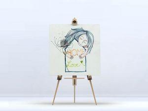 la Magie dans l'Image - toile home love - Digital Wall Coverings