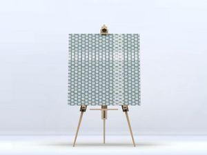 la Magie dans l'Image - toile lotus petit vert-de-gris blanc - Digital Wall Coverings