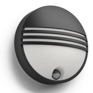 Philips - applique ronde détecteur yarrow ir led ip44 h21 cm - Outdoor Wall Lamp