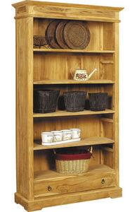 Aubry-Gaspard - etagère en teck massif avec tiroir - Shelf