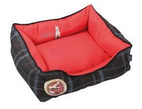 LES AVENTURES DE TINTIN - corbeille rectangle rouge les aventures de tintin - Dog Bed