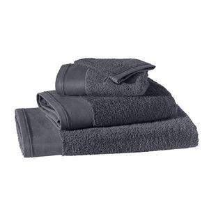 BLANC CERISE - peignoir col kimono - coton peigné 450 g/m² bleu - Towel
