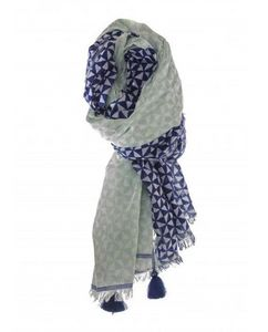 Mia Zia - emery light blue dark blue - Scarf